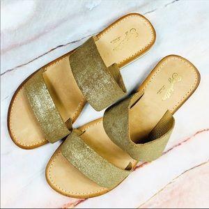 Seychelles Metallic Flat Slip On Sandals